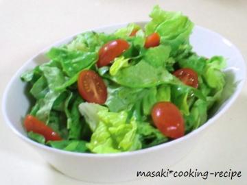 120509サラダ菜のシンプルサラダ
