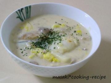 121103タラと白菜の豆乳シチュー