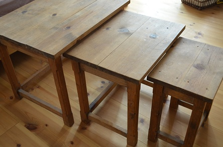 3連ローテーブル