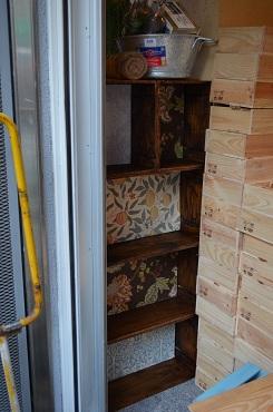 ショップ壁の隙間ボックス