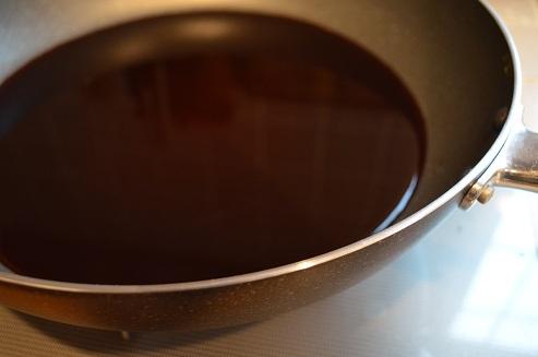 フライパンコーヒー染め