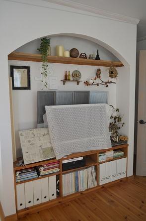 寝室改造テレビコーナー