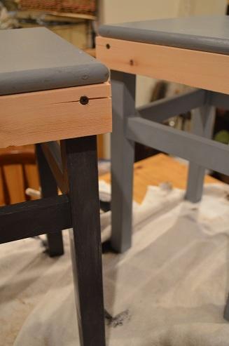 IKEAスツール塗装途中