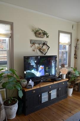 テレビボード壁