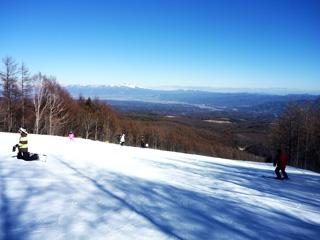 ゲレンデからの浅間山