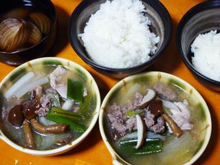 牛と豚の野菜味噌鍋