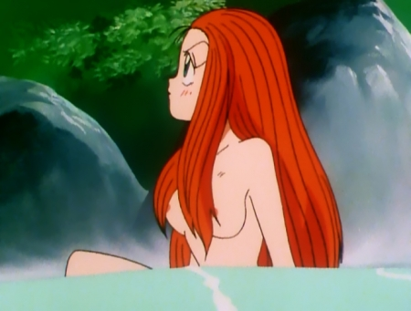 GS美神 令子の胸裸温泉入浴シーン乳首2