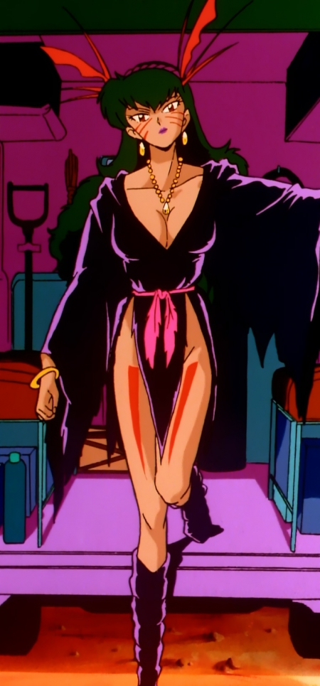 GS美神 小笠原エミの胸裸黒魔術衣装35