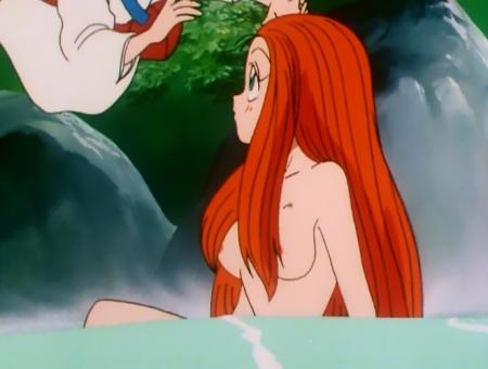 GS美神 令子の胸裸温泉入浴シーン乳首3