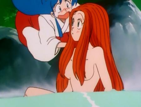 GS美神 令子の胸裸温泉入浴シーン乳首5