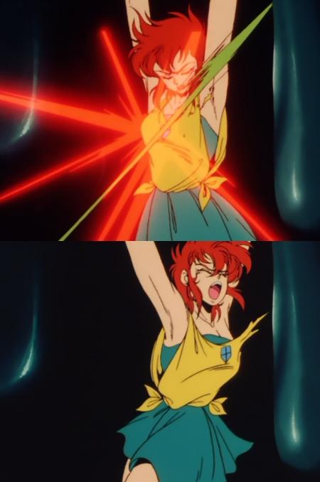 獣神ライガー 神代まいの乳房ムチ責め拷問シーン91