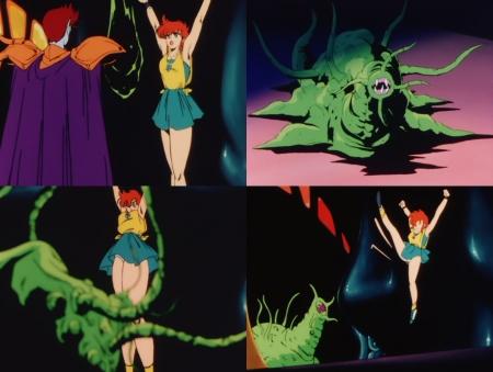獣神ライガー 神代まいが触手の怪物に襲われるピンチシーンでパンチラ92