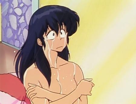 めぞん一刻TV版 音無響子の胸裸シャワーシーン14