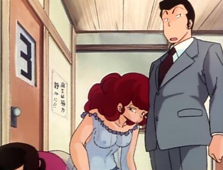 めぞん一刻TV版 六本木朱美の胸裸乳首8