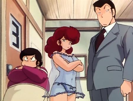 めぞん一刻TV版 六本木朱美の胸裸パンツ乳首9