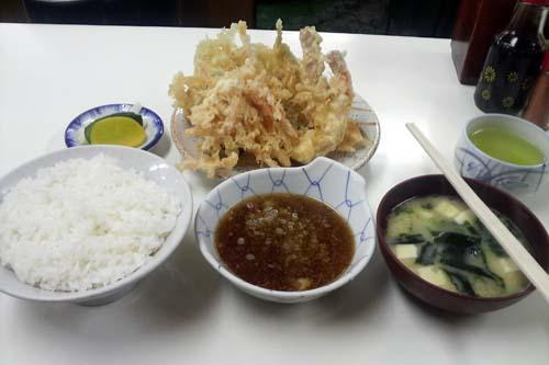 海老天有り天ぷら定食