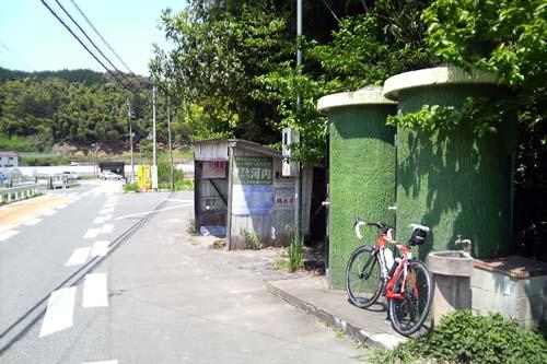 竹のトイレ