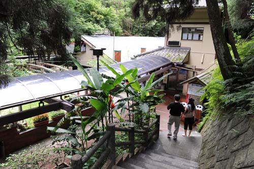 唐船峡の階段