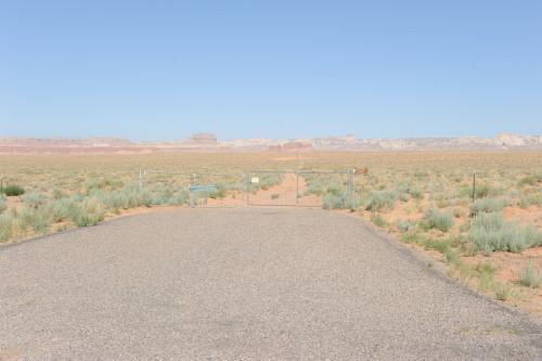 ナビが示したゴブリンバレーへの曲がり道