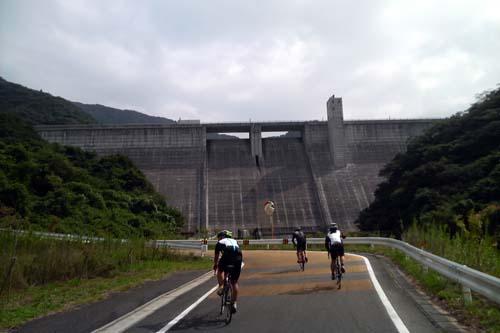 福知山ダムの上り