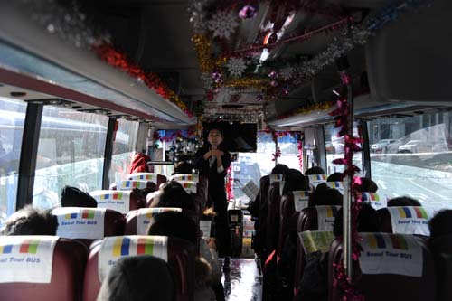 ツアーバスの中