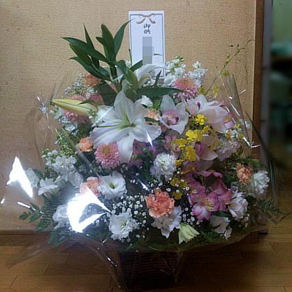 131129_恩師の奥さんへの供花