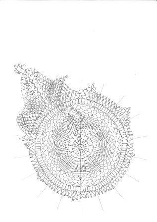 英語ドイリ編み図1