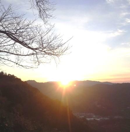 2013年のみかん山から見た初日の出