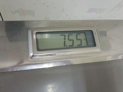 2012.8.13モモ様の体重