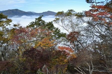 雲海と紅葉