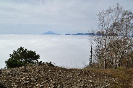 山頂から富士