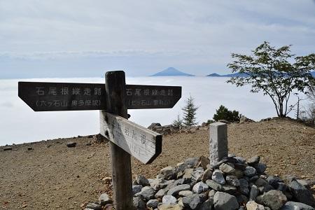道標と富士