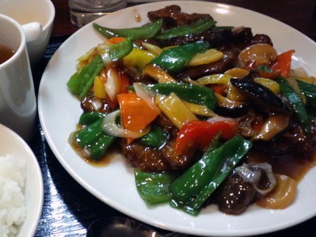 kei楽_国産豚レバーとピーマンの甘酢定食