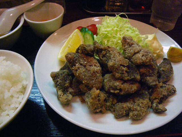 kei楽・蝦夷鹿レバー唐揚げ定食