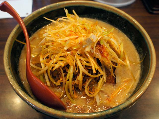 麺場壱歩 北海道味噌・肉ネギらーめん