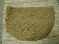編みかけマルシェバッグ