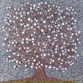 『星のなる樹』 クリックすると拡大画像 (部分) を表示。