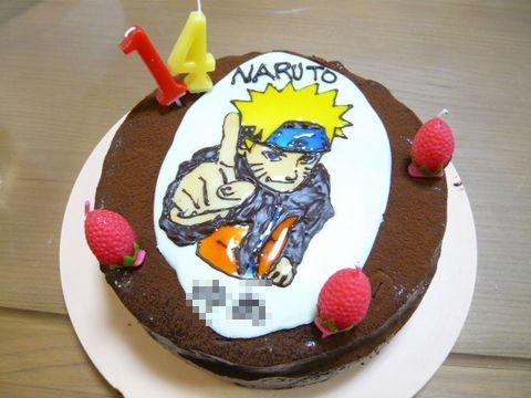 去年のナルトケーキ