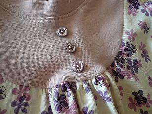 ヨークtボタン花柄