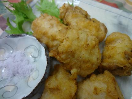 鮭白子の天ぷら