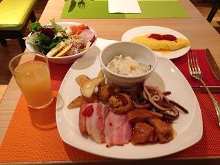 ホリデイ・インでの朝食
