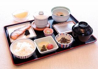 旅館の朝食の一例
