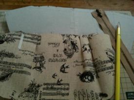 タックポーチ型紙