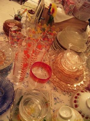 ガラスコップ&皿-1