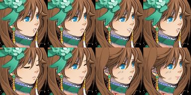 ツインテールのお嬢様の顔グラ5