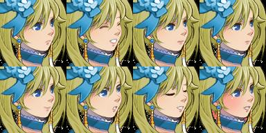 ツインテールのお嬢様の顔グラ3