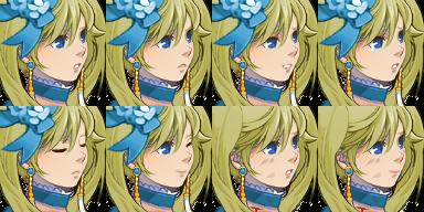 ツインテールのお嬢様の顔グラ4