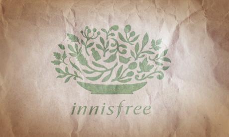 紙袋上的 innisfree logo, logo 的設計很可愛而且有意思, 有興趣的可到官網看一下解說