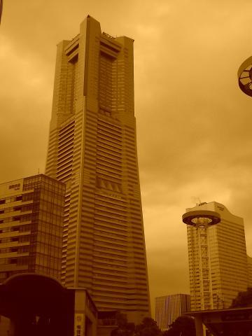 セピアのランドマークタワー