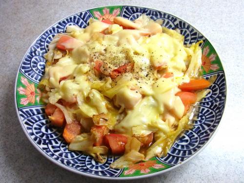 141018-231キャベツとトマトのチーズ焼(S)